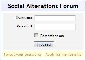 Social Alterations Forum