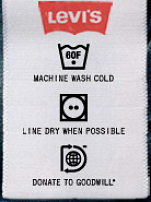 levis care tags