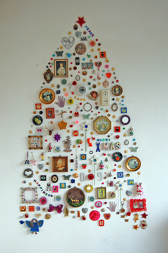"""this year's tree"", by ATLITW (via Materials for a time machine)"