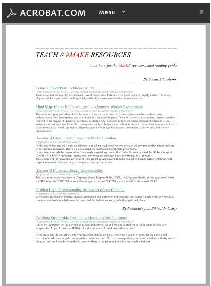 MAKE Stage Resources