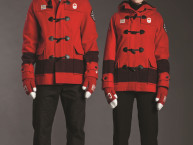 Hudson's Bay Unveils Official Parade Uniforms for Canadian Olympic Team at Sochi 2014 Opening Ceremony (CNW Group/Hudson's Bay Company)